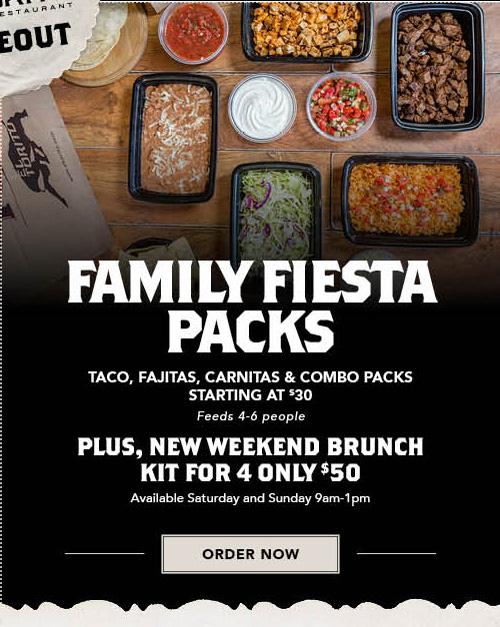 Order Online Now for Family Fiesta Packs
